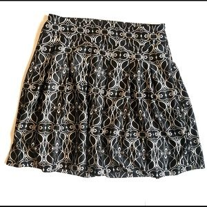 Mossimo pleated A-line silky printed skirt | 16